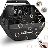 Outerman Bubble Machine Automatic Bubble Blower with Large High-Speed Fan and Portable Handle, Wireless Remote Control Durable Metal Bubble Maker for Christmas, Party, Wedding, Festival, Stage