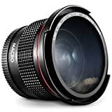 Altura Photo 58MM 0.35x Fisheye Canon Wide Angle Lens (w/Macro Portion) for DSLR Cameras EOS Rebel 70D 77D 80D 90D T8i T7 T7i T6i T6s T6 T5i T5 T4i T3i T100 SL1 SL2 SL3 - Wide Angle Lens Canon Mount