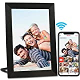 AEEZO WiFi Digital Picture Frame, IPS Touch Screen Smart Cloud Photo Frame with 16GB Storage, Easy Setup to Share Photos or Videos via Frameo APP, Auto-Rotate, Wall Mountable (9 inch Black)