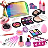 Kids Makeup Kit for Girls - Washable Real Makeup Set Toy, Princess Beauty Play Makeup Kit for Girls / Toddlers, Safe & Non Toxic Makeup for 3 4 5 6 7 8 9 10 Year Old Girl Christmas Birthday Gifts.