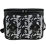 Insulated Cooler Bag Bluetooth Stereo Speakers with Rechargeable Built-in Battery for Android & iOS   Leakproof Collapsible 24 cans 2 gallons Drinks Food