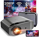 5G WiFi Bluetooth Projector, Artlii Energon 2 Outdoor Projector Support 4K, 340 ANSI Lumen 250' Display, Keystone&Zoom, Full HD Native 1080P Projector Compatible w/ TV Stick, iOS, Android, PS5