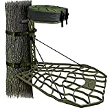 XOP-XTREME OUTDOOR PRODUCTS 2021 XOP Air Raid Evolution - Cast Aluminum Hang On Tree Stand for Hunting - Deluxe Deer Stand, Platform Dimensions - 21.5' X 31' (XOP Green + Storm Grey), XOP-AR-NM