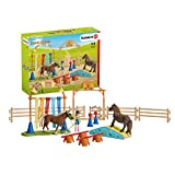 Schleich Farm World Pony Agility Training 41-piece Horse Playset for Kids Ages 3-8 , Brown