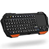 Fosmon Mini Bluetooth Keyboard (QWERTY Keypad), Wireless Portable Lightweight with Built-In Touchpad, Compatible with Apple TV, PS4, HTPC/IPTVVR Glasses, Smartphones and more