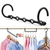 CIMLORD 10 Pack Magic Hangers Space Saving Organizers and Storage Clothes Hanger Multi Hangers Space Saver Organization Accessories Sturdy Wardrobe Closet Plastic Hook for Home, Dorm Room, Bedroom
