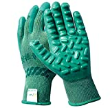 Vibration-absorbing Rubber Latex Glove, Anti-impact, Anti-vibration, Non-Slip, Wear-resistant, Protective Glove for Handheld Vibrating Tools, Power Drill, Jackhammer, Breaker Hammer, House Repair, and Gardening (1, Large)