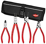 Knipex 9K 00 19 54 US 90° Circlip Snap-Ring Pliers Set in Pouch (4 Piece)