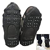 Ice Cleats Snow Traction Cleats Crampon for Walking on Snow and Ice Non-Slip Overshoe Rubber Anti Slip Crampons Slip-on Stretch Footwear