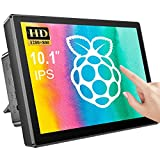 Raspberry Pi Touch Screen Monitor - Usparkle 10.1 Inch Touchscreen Monitor with 1280X800 Display,Rear Housing, Cooling Fan,10-Point Capacitive Touch, Touchscreen Monitor for Pi 4/3 /2/ Zero/B PC