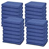 24 Moving Blankets - Deluxe Pro - 80 x 72 Inches (35 lb/dz) for Protecting Furniture Professional Quilted Shipping Furniture Pads Navy Bule and Black