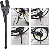 Kickstand for 16 inch Kid's Bicycle, SEISSO Bike Stand for 16 Premium Steel Rear Wheel Holder Black Easy Assembly for Royal Baby Girls Boys Bicycle