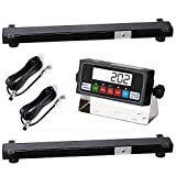 PrimeScales 10000lb Load Bar Scale Set for Cattle Scale, Hog Scale, Pig Scale, Goat Scale, Sheep Scale, Alleyway Scale, Chute Scale and Cage Scale   Two Weigh Bar and One Indicator Set (36')
