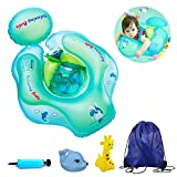 Baby Swim Floats for Infants, Inflatable Swimming Float Ring with Bottom Support and Swim Buoy Floats for Kids Toy Pond, Swimming Pool, Bathtub and Seaside for The Age of 3 Months - 1 Year Old Infant