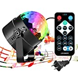iToncs RBG Disco Ball, Sound Activated Party Lights with Remote Control Dj Lighting, Strobe Lamp 7 Modes Stage Par Light for Home Room Parties Birthday DJ Bar Karaoke Xmas Wedding Show Club Pub