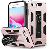 VEGO Compatible for iPhone SE 2020 Case, iPhone 6 6s 7 8 Case, Military Grade Kickstand Magnetic Stand Holder Shockproof Rugged Bumper Protective Case for iPhone 6/6s/7/8/SE 2020 4.7 inch Rosegold