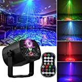 DJ Disco Stage Party Lights, LED Sound Activated Laser Light RGB Flash Strobe Projector with Remote Control for Christmas Halloween Decorations Karaoke Pub KTV Bar Dance Gift Birthday Wedding