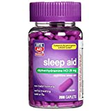 Rite Aid Sleep Aid Caplets, Diphenhydramine HCl, 25mg - 200 Count | Sleeping Pills for Adults | Sleep Aids for Adults | Sleep Aid Diphenhydramine | Natural Sleep Aids for Adults Extra Strength