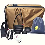 Amethyst Lake Hot Stones Massage Heater Bag Kit, 16 Basalt Hot Stone Warmer Set, Portable & Perfect for Salon and Home Use, Comes with Zipped Inner Bag for Hygienic Transportation and Car Adapter