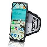 MyBand Workout Phone Holder - Wrist Phone Holder - Fits 4-6.5 Inch Smartphones - 360° Rotatable Cell Phone Holder for Walking - Full Access Armband Phone Holder – Reflective - Hidden Pocket