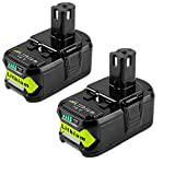 (Upgraded) 2Pack 5.0Ah P108 Replacement for Ryobi 18v Battery P102 P107 Compatible with Ryobi Battery 18v Lithium P104 P103 P105 P109