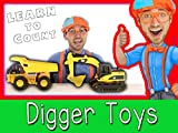 Construction Vehicles for Preschoolers - Learn to Count with Blippi