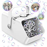 Electric Bubble Machine, NTHJOYS Automatic Bubble Blower for Kids, Portable Bubble Maker with 6000+ Bubbles/Min, 2 Speeds, Rotation Button, Bubble Toys for Outdoor Indoor Party Wedding Birthday