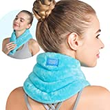 Relief Expert Hands-Free Neck Heating Pad Microwavable Heated Neck Wrap for Pain Relief, Microwave Neck Warmer for Hot Cold Therapy