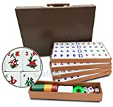 Mose Cafolo Chinese Mahjong X-Large 144 Numbered Melamine Tiles 1.5' Large Tile with Carrying Travel Case Pro Complete Mahjong Game Set - (Mah Jong, Mahjongg, Mah-Jongg, Mah Jongg, Majiang)