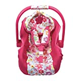 Adora Baby Doll Car Seat in Pink Flower Print for Baby Dolls up to 20