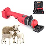 18V Portable Sheep Shears Rechargeable Cordless Electric Sheep Shears Clipper Shears 2 Speeds Adjustable 2200-2400 RPM Professional Trimmer for Goats, Alpaca, Llamas, Angora Rabbits, Sheep, Cattle