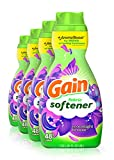Gain Liquid Fabric Conditioner Softener, Moonlight Breeze, Packaging May Vary, White, Total 192 Loads, 41 Fl Oz, Pack of 4