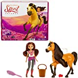 Mattel Spirit Untamed Lucky Doll (Approx. 7-in) & Spirit Horse (Approx. 8-in), with Long Mane, Trough, Hay, Brush, Apple Treat & Carrots, Great Gift for Ages 3 Years Old & Up [Amazon Exclusive]