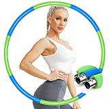 IENIN Weighted Hoop Exercise Hoop Fitness Hoop Detachable and Weight Adjustable Design Figure Fitness Hoop Fat Burning Healthy Sports Life Home Workout for Woman and Man