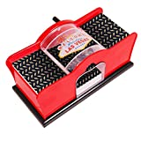 KANGAROO Card Shuffler for Blackjack, Uno, Poker; Quiet, Easy to Use Manual Card Mixer, Hand Cranked,Casino Equipment Card Shuffling Machine for Playing Cards, (2-Deck) of Cards Holder