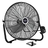 Lasko 20' High Velocity Quick Mount, Easily Converts from a Floor Wall Fan, 7 x 22 x 22 inches, Black 2264QM