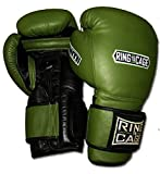34oz and 50oz Deluxe MiM-Foam Sparring Boxing Gloves - Safety Strap for Muay Thai, MMA, Kickboxing, Boxing (RC06SS-Marine Green/Black 50oz)