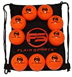 """Flair Sports - 9 Pack Baseball and Softball Weighted Training Heavy Balls for Hitting and Pitching - Improve Power - Bonus Carry Bag Included (16 Ounces & 3"""" Diameter) - Limited Flight"""