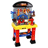 JIMMY'S TOYS Kids Construction Toy Playset Work Shop Station for Toddlers, Kids, and Small Children - Includes Battery Operated Drill, Engine, and Plenty of Essential Construction Tools