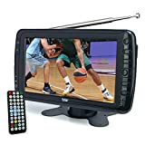 Tyler 7' Portable TV LCD Monitor Rechargeable Battery Powered Wireless Capability HD-TV, USB, SD Card, AC/DC, Remote Control Built In Stand Small For Car Kids Travel