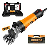 BEETRO 500W, Electric Professional Sheep Shears, Animal Grooming Clippers for Sheep Alpacas Goats and More, 6 Speeds Heavy Duty Farm Livestock Haircut
