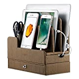 EasyAcc Charging Station Dock for Ravpower 60W 12A 6-Port Electronics Organizer Stand, Desk Organizer for Anker USB Charging Docking Station for Cell Phones Tablet Smart Watch (No Power Supply)
