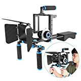 Neewer Aluminum Film Movie Kit System Rig for Canon/Nikon/Pentax/Sony and other DSLR Cameras (Style II)