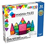 Magna-Tiles 32-Piece Clear Colors Set, The Original Magnetic Building Tiles For Creative Open-Ended Play, Educational Toys For Children Ages 3 Years +