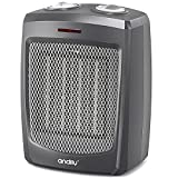 andily Space Electric Heater for Home and Office Ceramic Small Heater with Thermostat, Energy Save Technology, 750W/1000W/1500W
