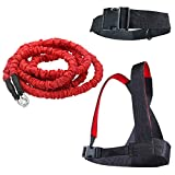 YNXing Dynamic Resistance Trainer Acceleration Speed Cord for Resistance Training to Improve Strength, Power, and Agility 5m/2m Elastic Cord Set (5m Set)
