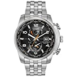 Citizen Eco-Drive World Time A-T Mens Watch, Stainless Steel, Technology, Silver-Tone (Model: AT9010-52E)