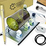 Glass Bottle Cutter Kit with Adjustable Track System. Cuts Round, Oval, Square, Large, Small Bottle, Bottlenecks. Tool for cutting Beer Bottle, Wine Bottle, Champagne, Liquor Bottles. Stainless Steel