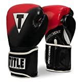 Title Boxing Speed-Trax Weighted Bag Gloves, Black/Red, Regular
