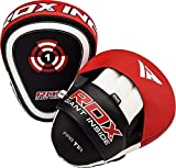 RDX Boxing Pads Focus Mitts  Maya Hide Leather Curved Hook and Jab Target Hand Pads   Great for MMA, Martial Arts, Kickboxing, Muay Thai, Karate Training   Padded Punching, Coaching Strike Shield